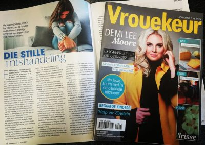 Vrouekeur magazine. July 2019. How to deal with emotional abuse.