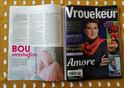Vrouekeur magazine. June 2019. Building effective stress buffers for a stress free life.