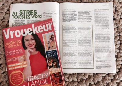 Vrouekeur magazine. November 2017. When stress becomes toxic.