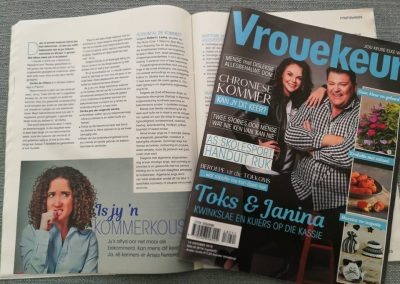 Vrouekeur magazine. October 2018. How to deal with chronic worry.