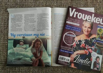 Vrouekeur magazine. September 2018. How to deal with unfurfilled needs in your relationship.